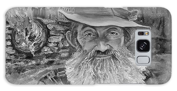 Popcorn Sutton - Black And White - Rocket Fuel Galaxy Case