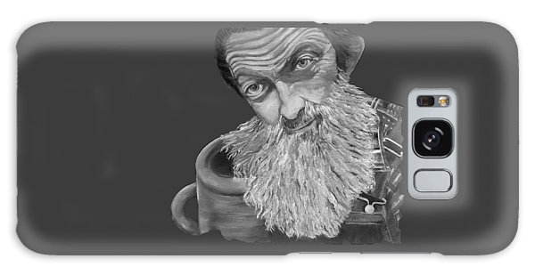 Popcorn Sutton Black And White Transparent - T-shirts Galaxy Case
