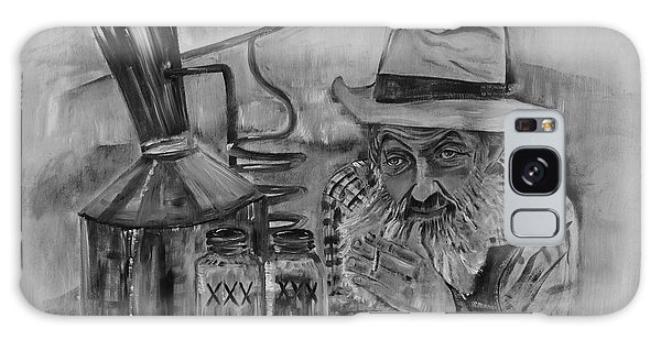 Popcorn Sutton - Black And White - Waiting On Shine Galaxy Case