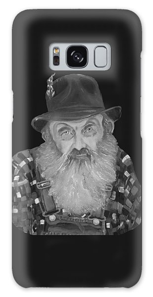 Popcorn Sutton Moonshiner Bust - T-shirt Transparent B And  W Galaxy Case