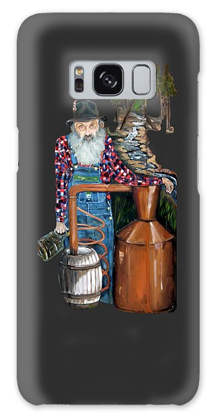 Popcorn Sutton Moonshiner -t-shirt Transparrent Galaxy Case