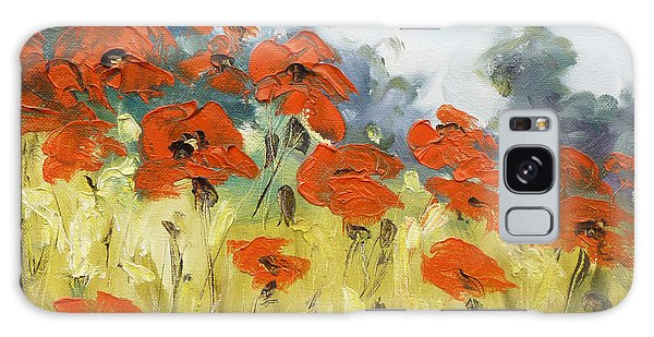 Poppies 3 Galaxy Case by Irek Szelag