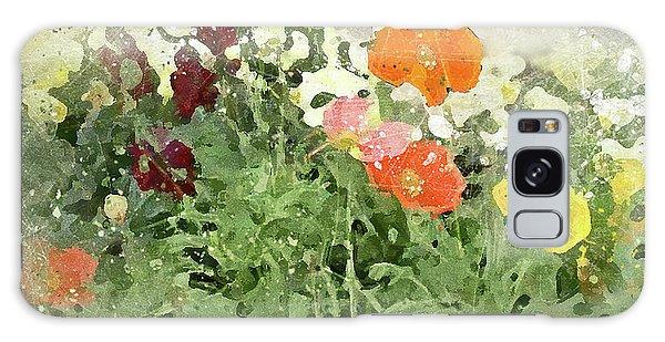 Poppies 2-f Galaxy Case