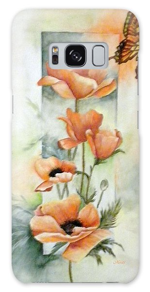 Poppies And Butterfly Galaxy Case