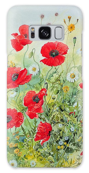 Poppies And Mayweed Galaxy Case
