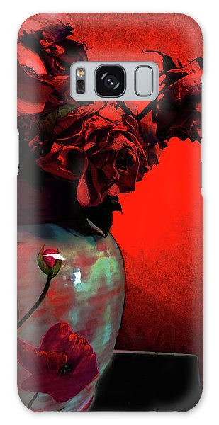 Poppies And Roses Galaxy Case