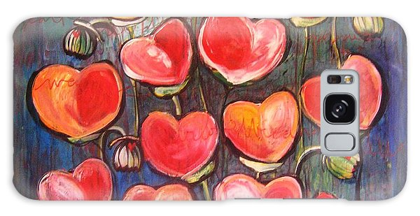 Poppies Are Hearts Of Love We Can Give Away Galaxy Case