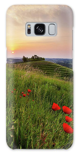 Galaxy Case featuring the photograph Poppies Burns by Davor Zerjav