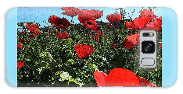Poppies. Galaxy Case by Don Pedro De Gracia