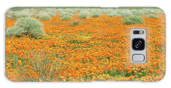 Poppies For Ever - Poppy Fields Mohave Desert California Galaxy Case by Ram Vasudev