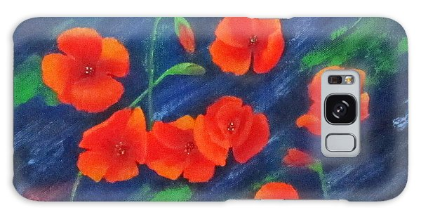 Poppies In Abstract Galaxy Case by Roseann Gilmore
