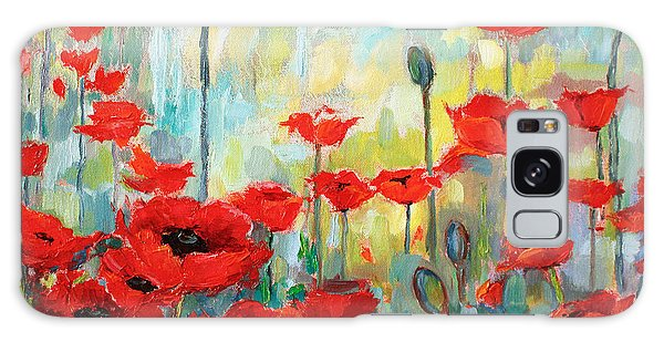 Poppies In Bloom Galaxy Case