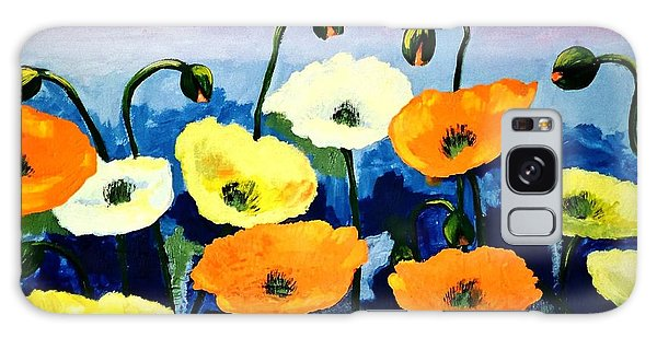 Poppies In Colour Galaxy Case