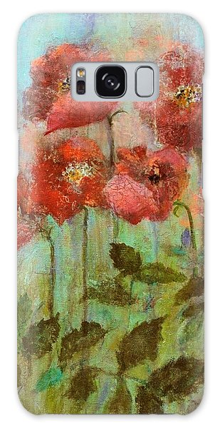 Poppies In Pastel Watercolour Galaxy Case