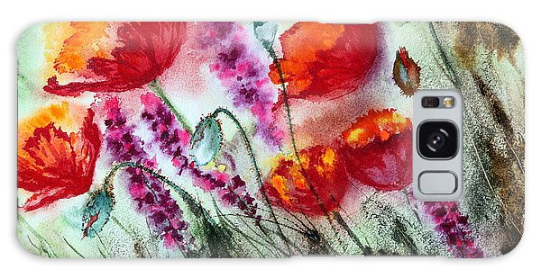 Poppies In The Wind Galaxy Case