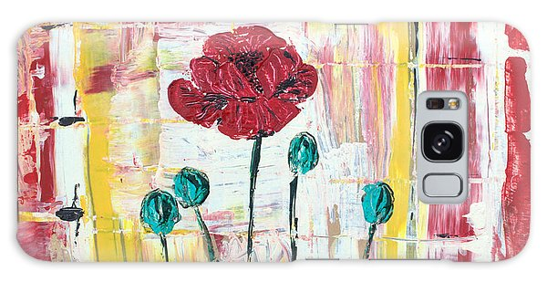 Poppies In The Window Galaxy Case