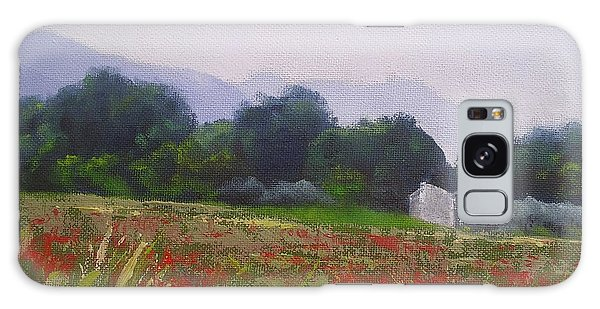 Poppies In Tuscany Galaxy Case