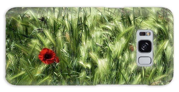 Poppies In Wheat Galaxy Case
