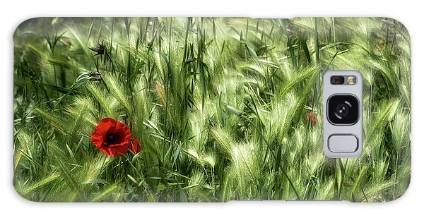 Poppies In Wheat Galaxy Case by Raffaella Lunelli