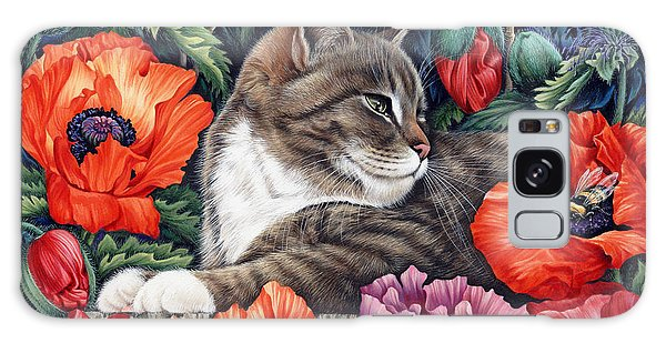 Tabby Galaxy Case - Poppies by MGL Meiklejohn Graphics Licensing