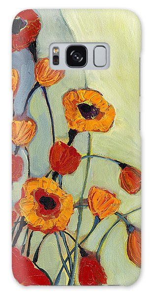 Gray Galaxy Case - Poppies by Jennifer Lommers