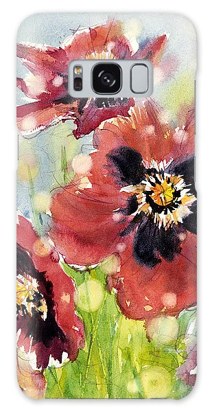 Poppies Galaxy Case by Judith Levins