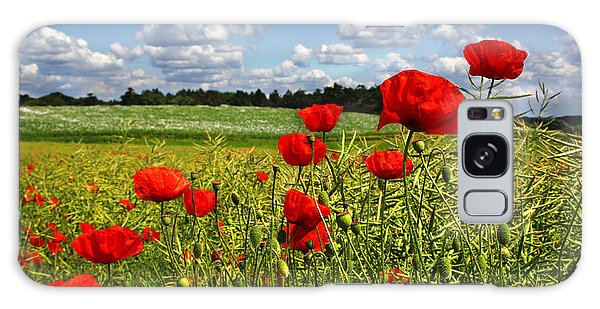Poppies Galaxy Case by Ken Brannen