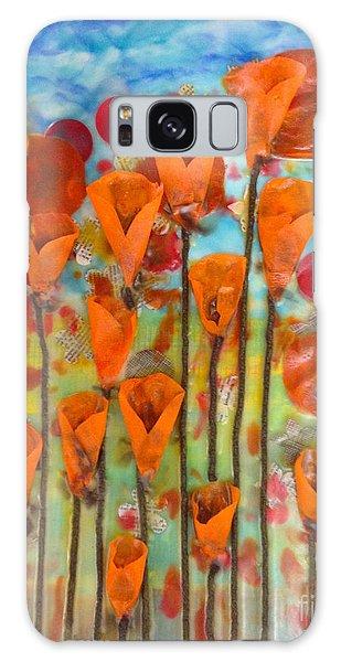 Poppies Make Me Happy Galaxy Case