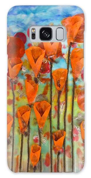 Poppies Make Me Happy Galaxy Case