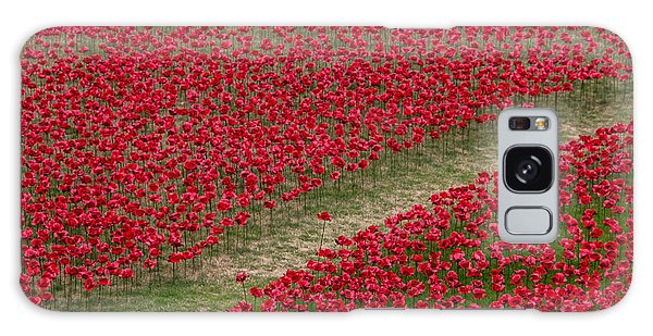 Poppies Of Remembrance Galaxy Case
