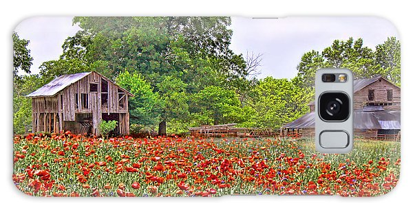 Poppies On The Farm Galaxy Case