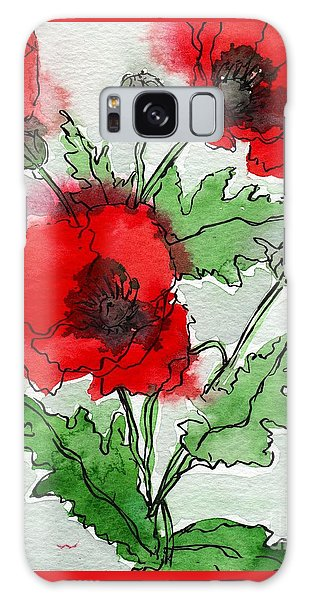 Poppies Popped Galaxy Case