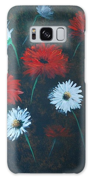 Poppin Daisies Galaxy Case by Leslie Allen