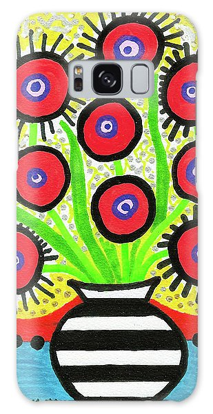 Poppin' Red Poppies Galaxy Case