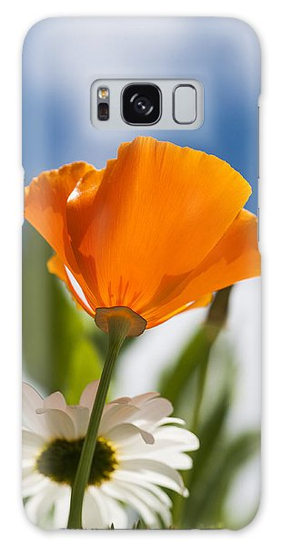 Poppy And Daisies Galaxy Case