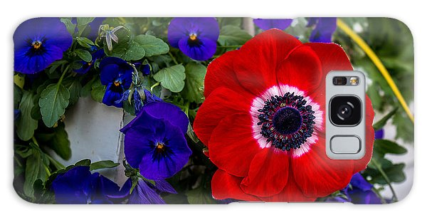 Poppy And Pansies Galaxy Case