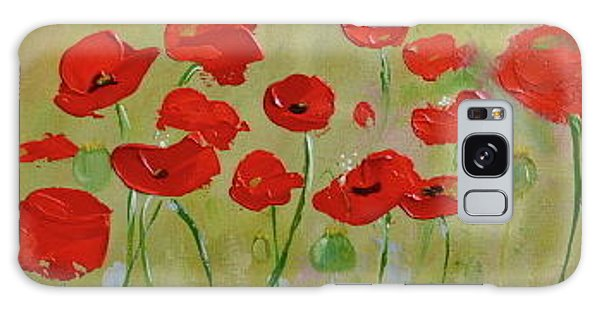Poppy Fever Galaxy Case by Teresa Tilley
