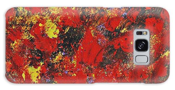 Poppy Field Galaxy Case