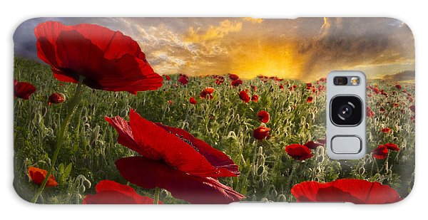 Poppy Field Galaxy Case