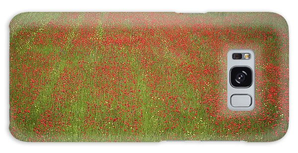 Poppy Field In Europe Galaxy Case by Colleen Williams