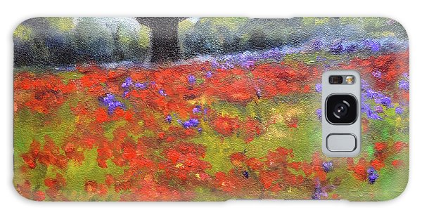 Poppy Field W Tree Galaxy Case