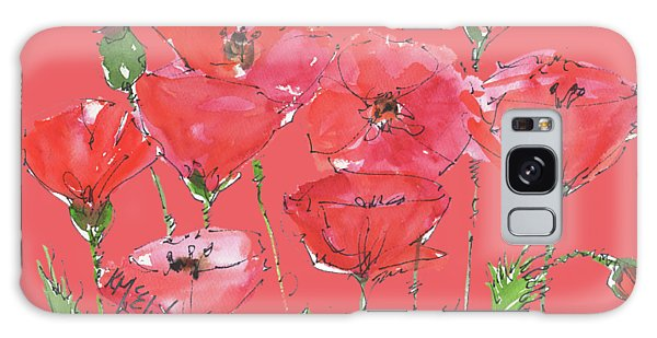 Poppy Garden Galaxy Case