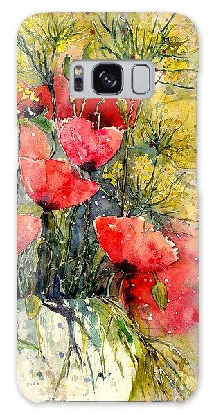 Summertime Galaxy Case - Poppy Impression by Suzann Sines