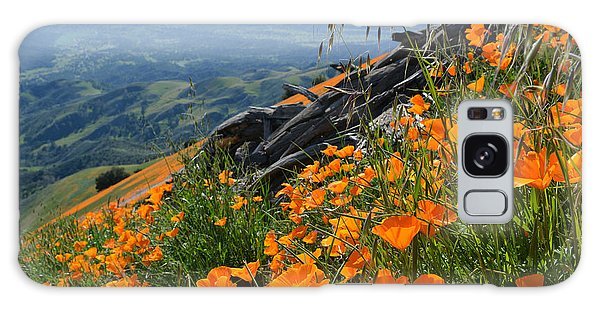 Galaxy Case featuring the photograph Poppy Mountain  by Kyle Hanson