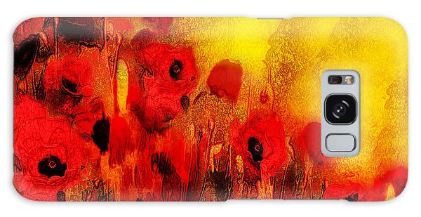 Galaxy Case featuring the painting Poppy Reverie by Valerie Anne Kelly