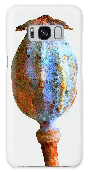 Poppy Seedhead - Orange Galaxy Case
