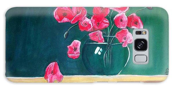 Poppy Still Life Galaxy Case by Carol Duarte