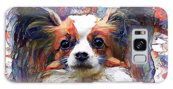 Poppy The Papillon Dog Galaxy Case