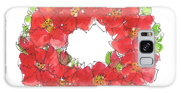 Poppy Wreath Galaxy Case