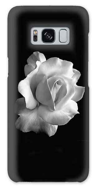 Porcelain Rose Flower Black And White Galaxy Case